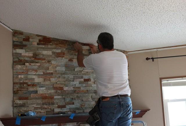 Building A Fireplace Mantel Over Brick Home Design Ideas
