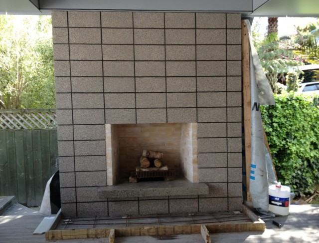 Cinder Block Fireplace Plans