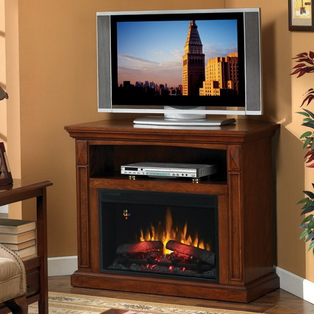 Corner Fireplace Tv Stand Entertainment Center