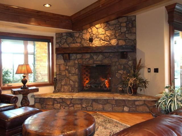 corner stone gas fireplace home design ideas Stacked Stone Veneer Fireplace Surround Granite Corner Fireplace