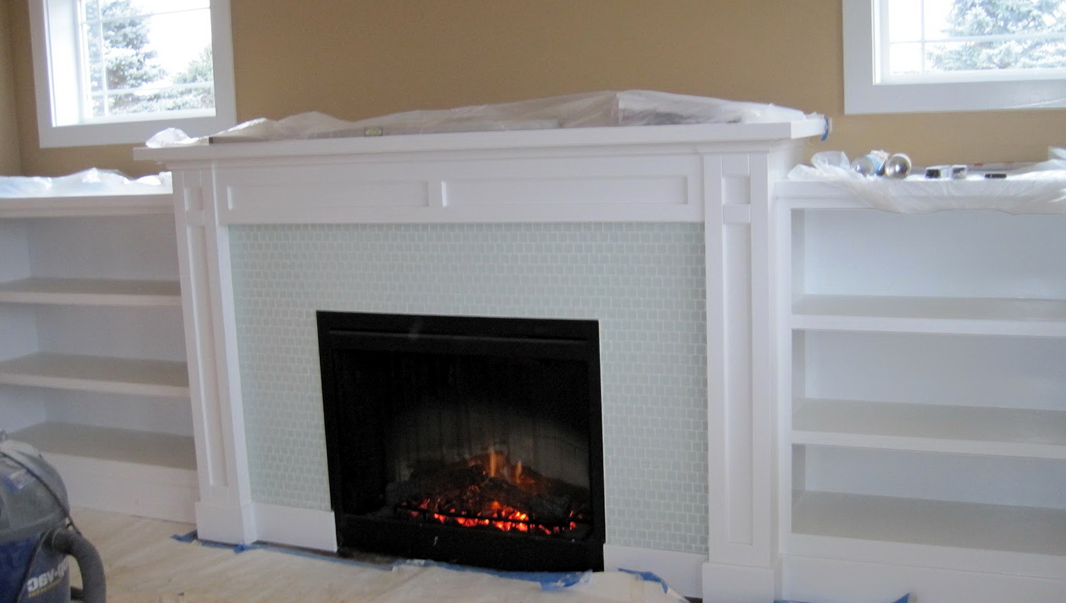 Craftsman Style Fireplace Built Ins