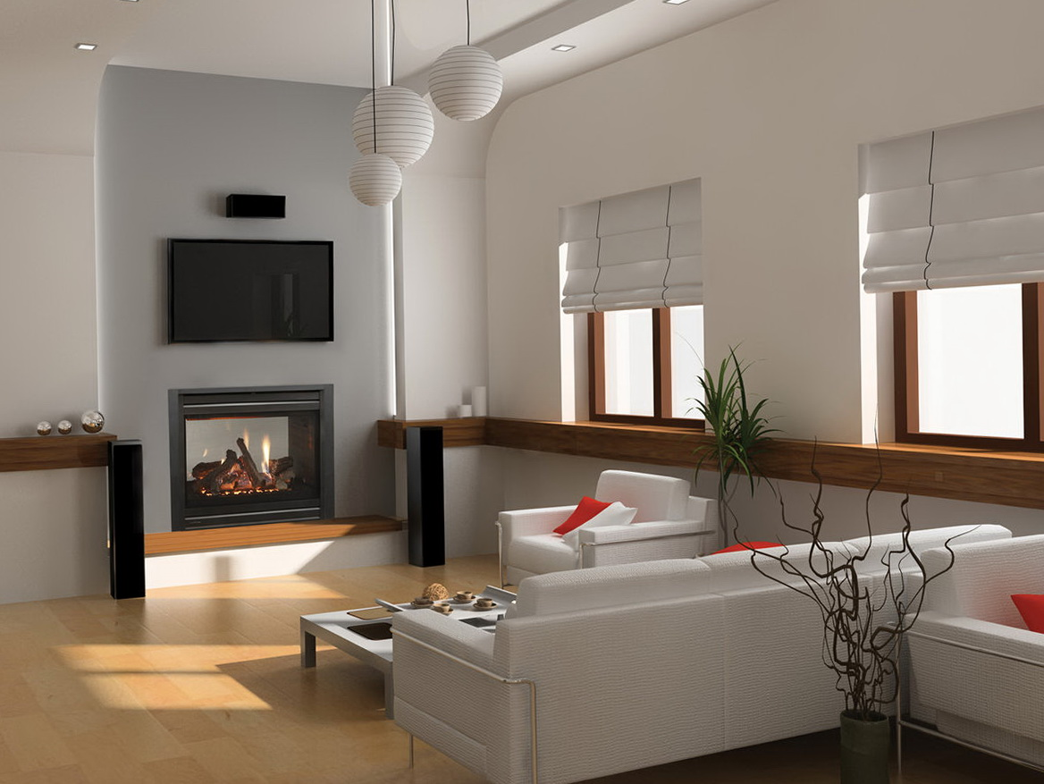 Double sided gas fireplace regency p121 two sided gas for Double sided fireplace price