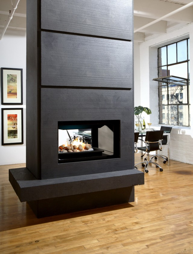 Double Sided Gas Fireplace Review