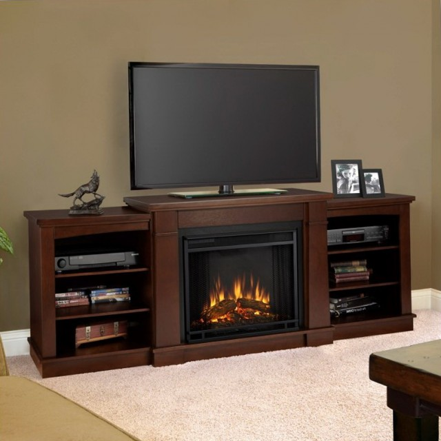 Electric Fireplace Tv Stand Espresso
