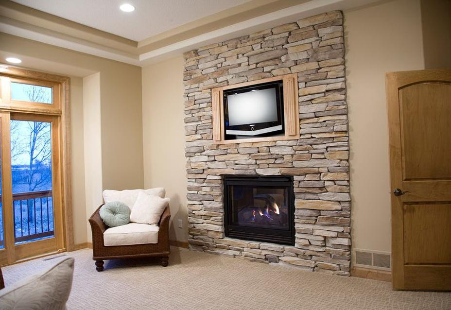 Faux Stone Fireplace Diy   Home Design Ideas