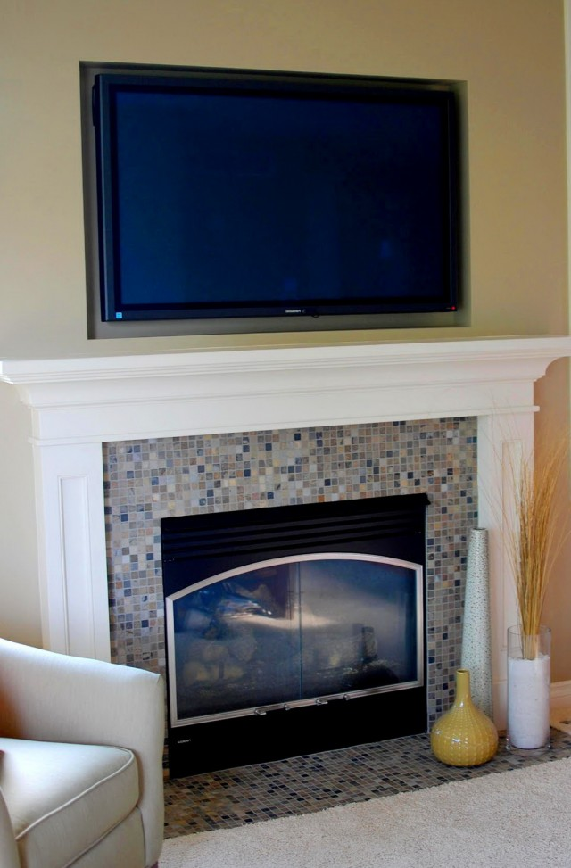 Gas Fireplace Mantel Height   Home Design Ideas