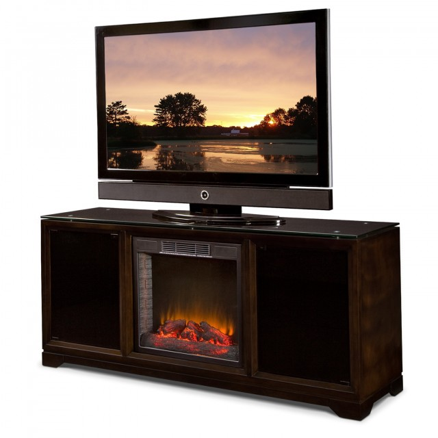Tv Stand With Fireplace And Refrigerator Home Design Ideas