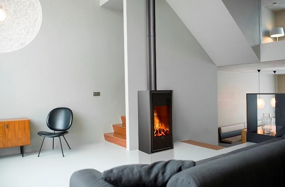 Freestanding Wood Fireplace Modern | Home Design Ideas