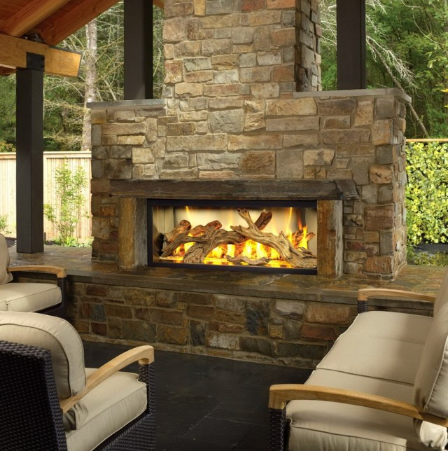 Gas Fireplace Kits : Outdoor fireplace kits stacked stone
