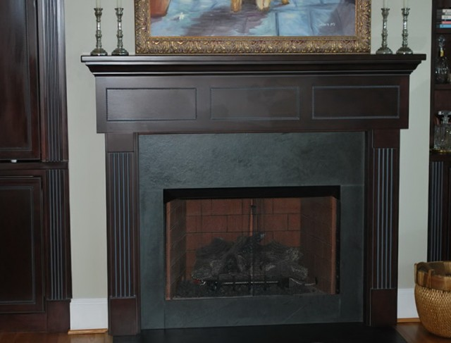 Awesome Slate Tile Fireplace Surround Gallery Awesome Design