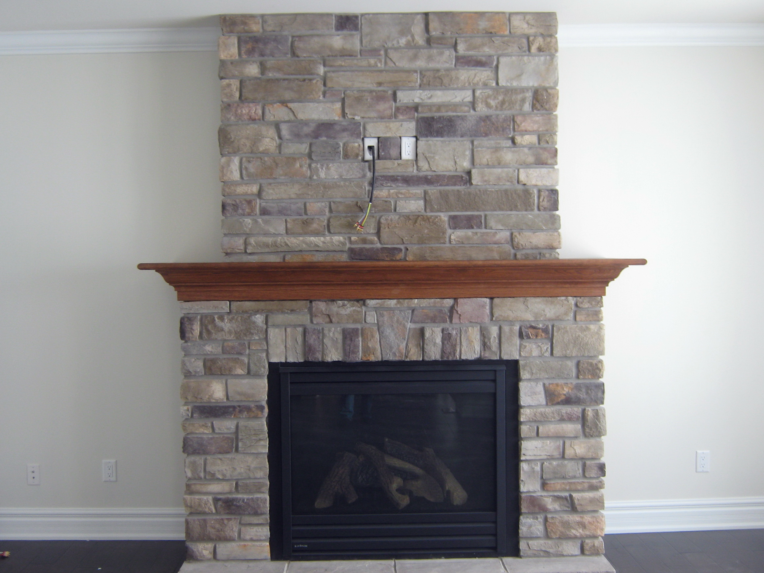 How To Reface A Brick Fireplace With Stone Home Design Ideas