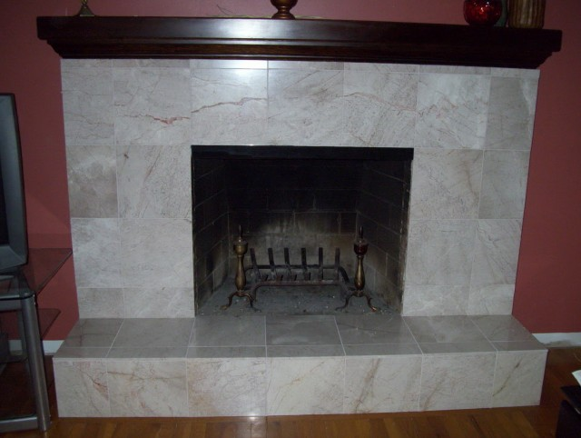How To Reface A Brick Fireplace With Stone | Home Design Ideas