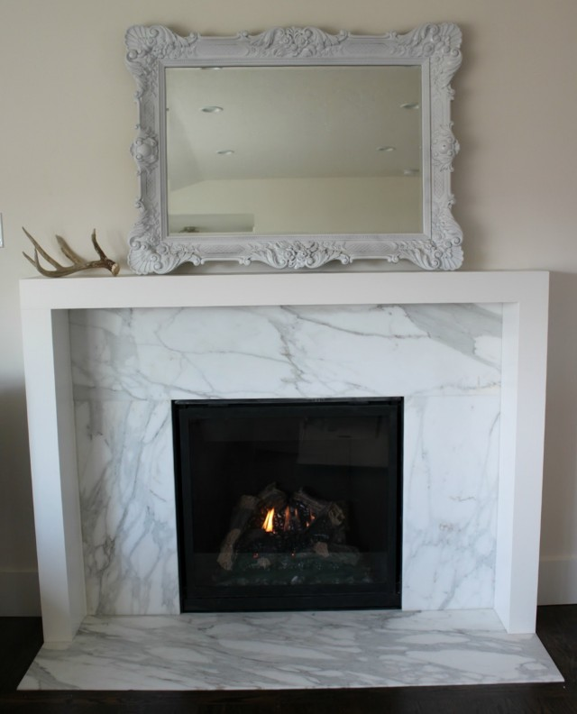 Modern Floating Fireplace Mantel