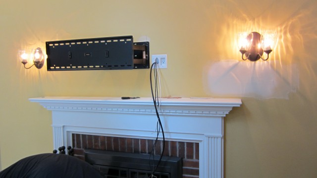 Mounting Tv Above Fireplace Hiding Cables Home Design Ideas