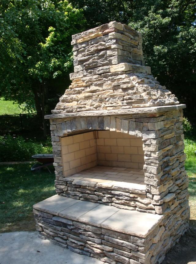 Outdoor Stone Fireplace Kits Price