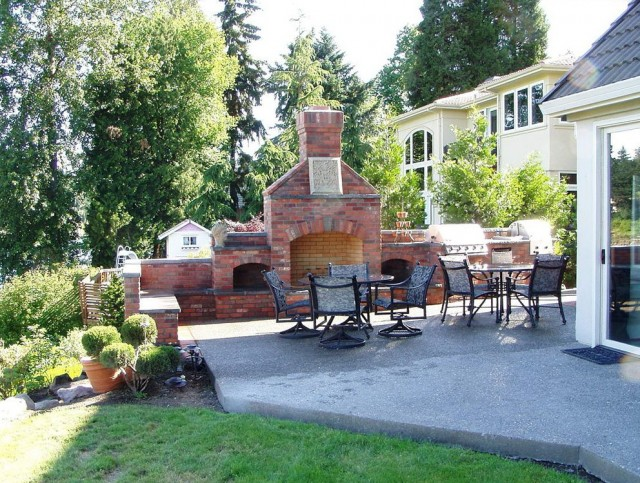 Pictures Of Outdoor Fireplaces And Bbq