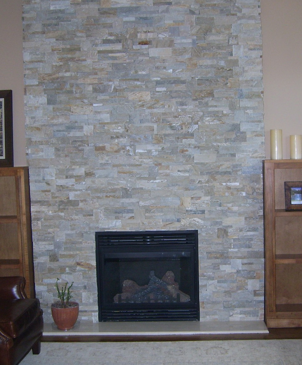 Refacing A Fireplace With Stone Veneer Home Design Ideas