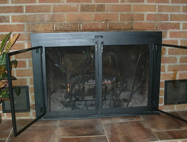 Wood Fireplace Doors Replacement | Home Design Ideas