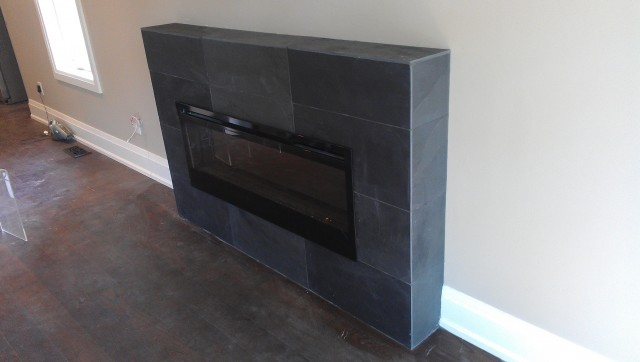 Slate Tile Fireplace Surround Pictures