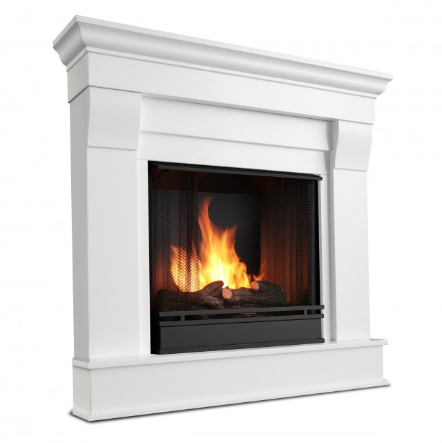 Small Corner Ventless Gas Fireplace