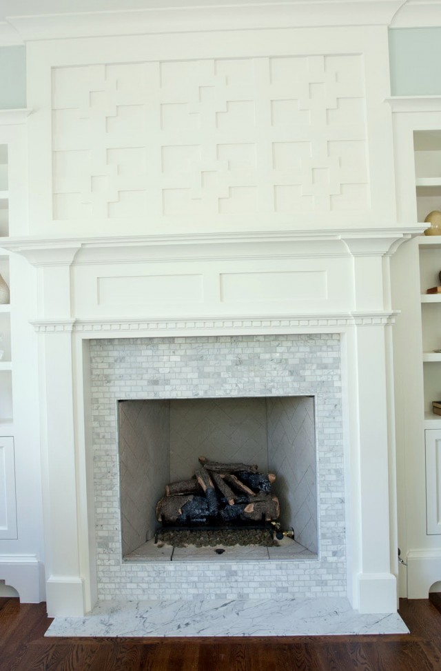 Fireplace hearth stone tiles images for Tile designs for fireplaces