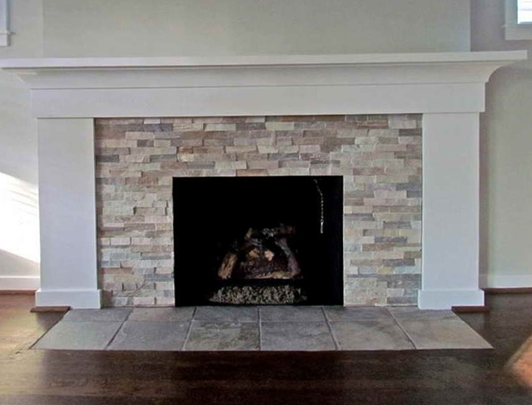 Stone Tile Fireplace Ideas | Home Design Ideas