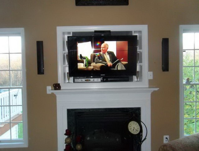 Mounting A Tv Over A Brick Fireplace Home Design Ideas