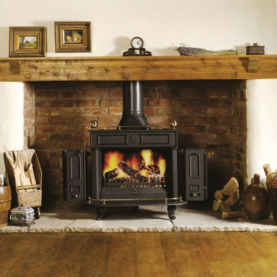 Wood Stove Fireplace Mantels | Home Design Ideas