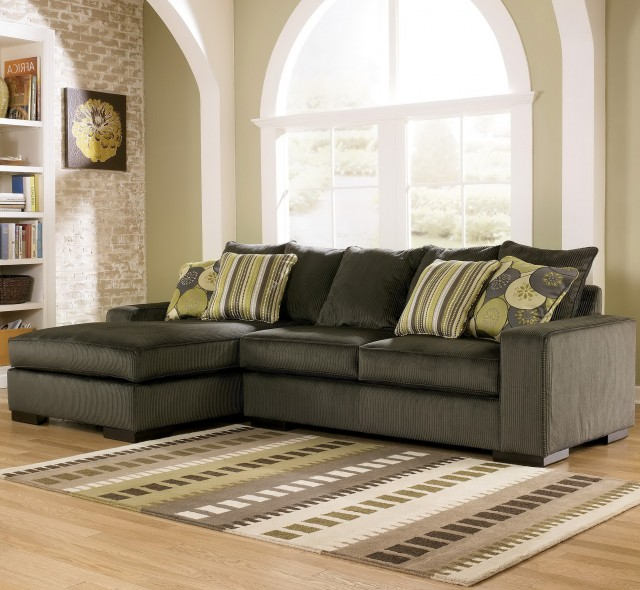 Ashley furniture chaise lounge couch home design ideas for Ashley hodan sofa chaise