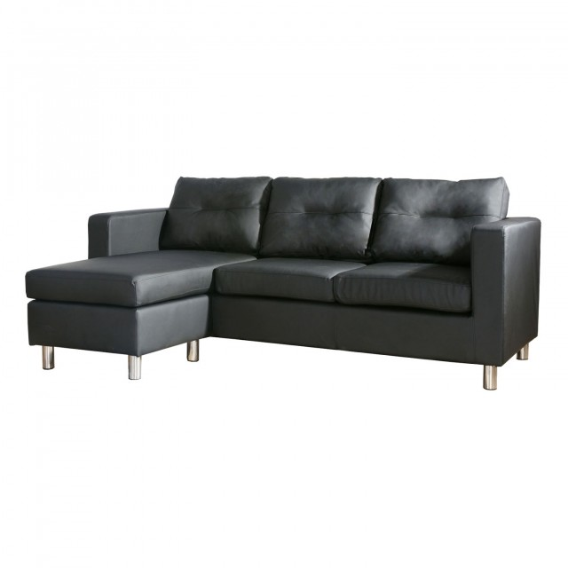 Black Leather Chaise Sofa Home Design Ideas