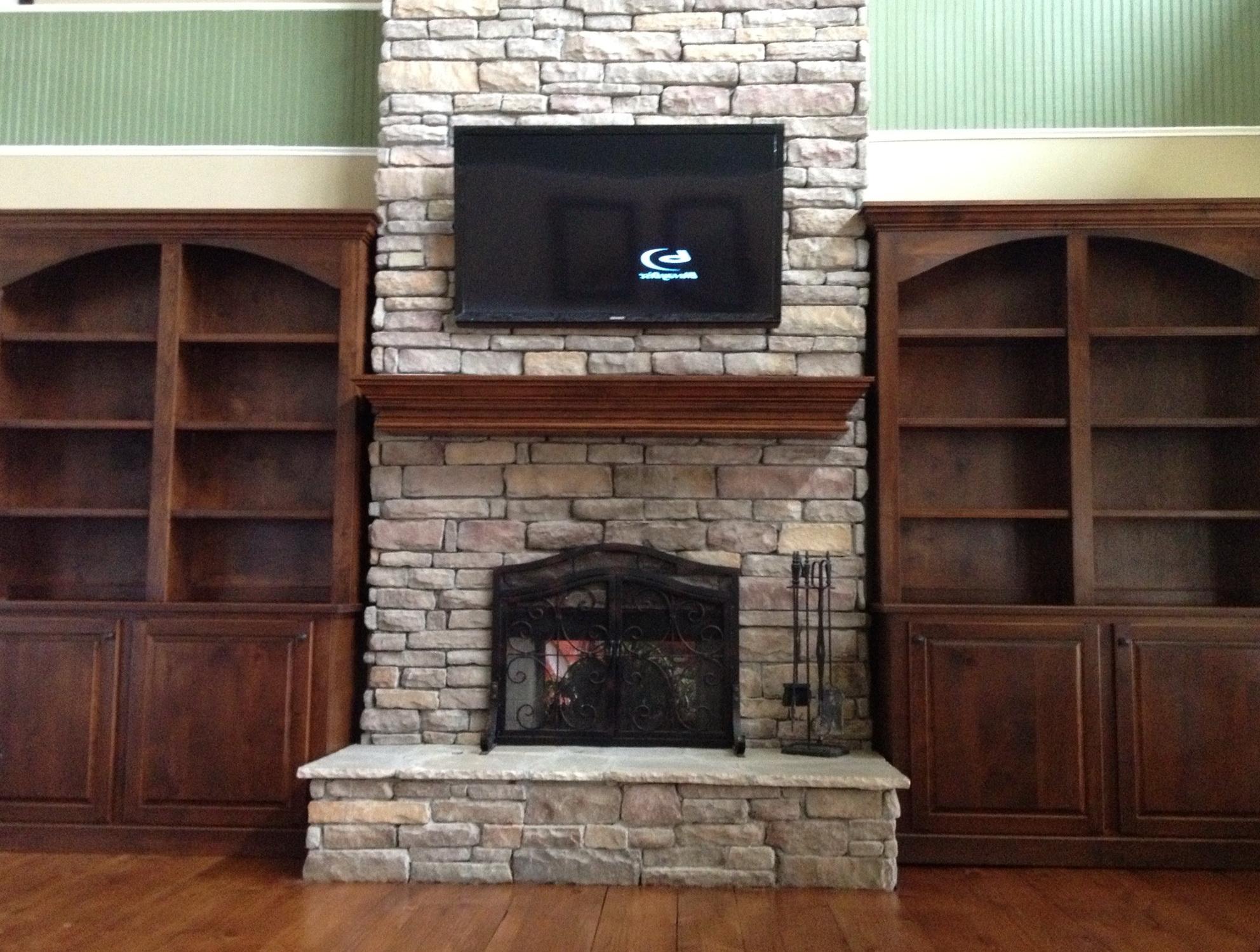 Permalink to Bookshelves Around Fireplace Pinterest