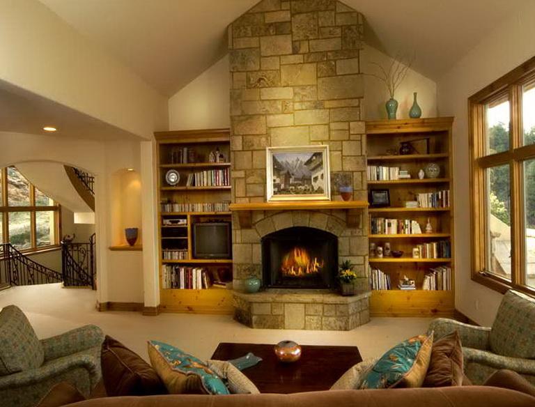 Permalink to Bookshelves Around Fireplace Plans