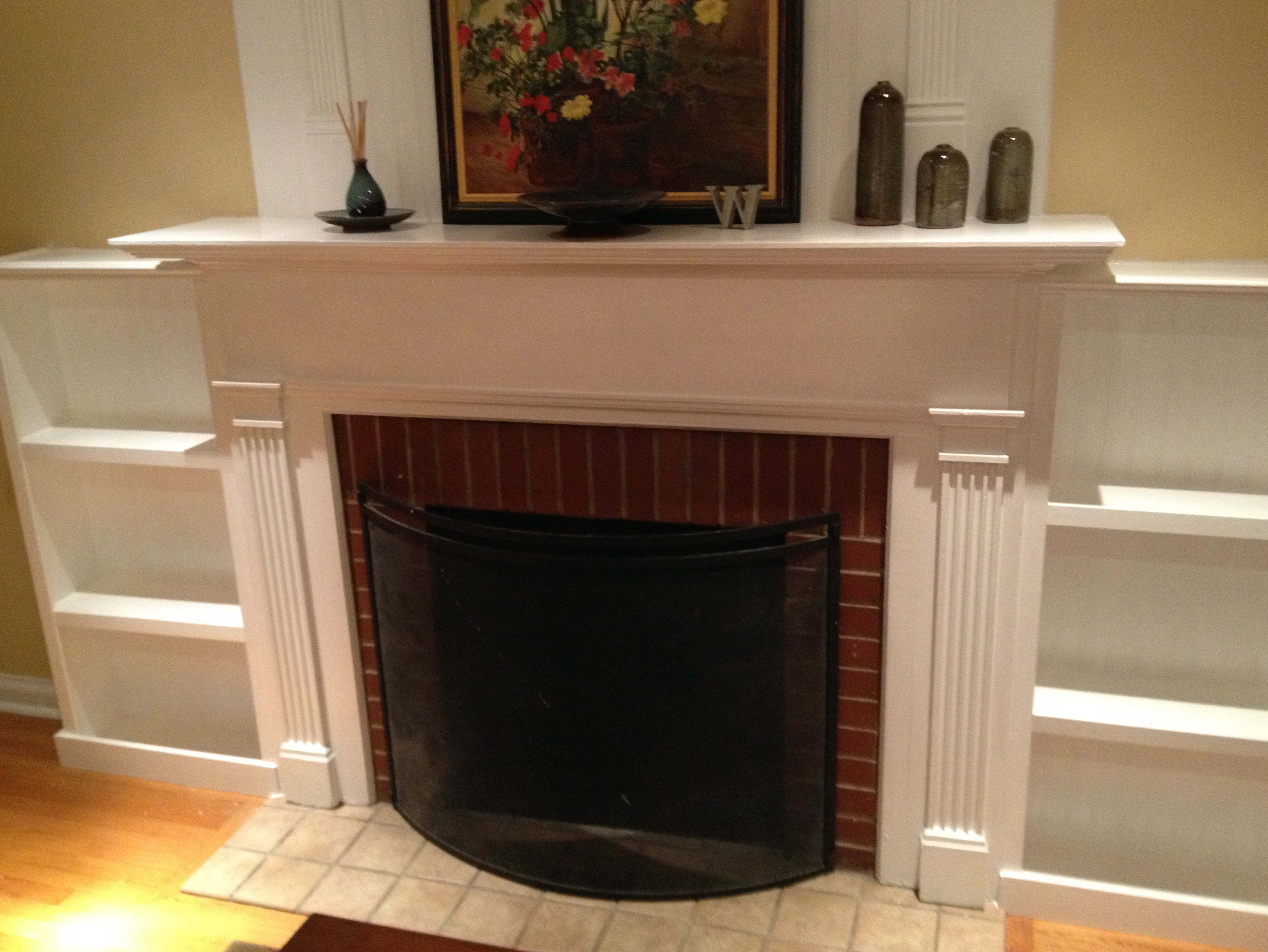Permalink to Built In Bookshelves Around Fireplace Plans