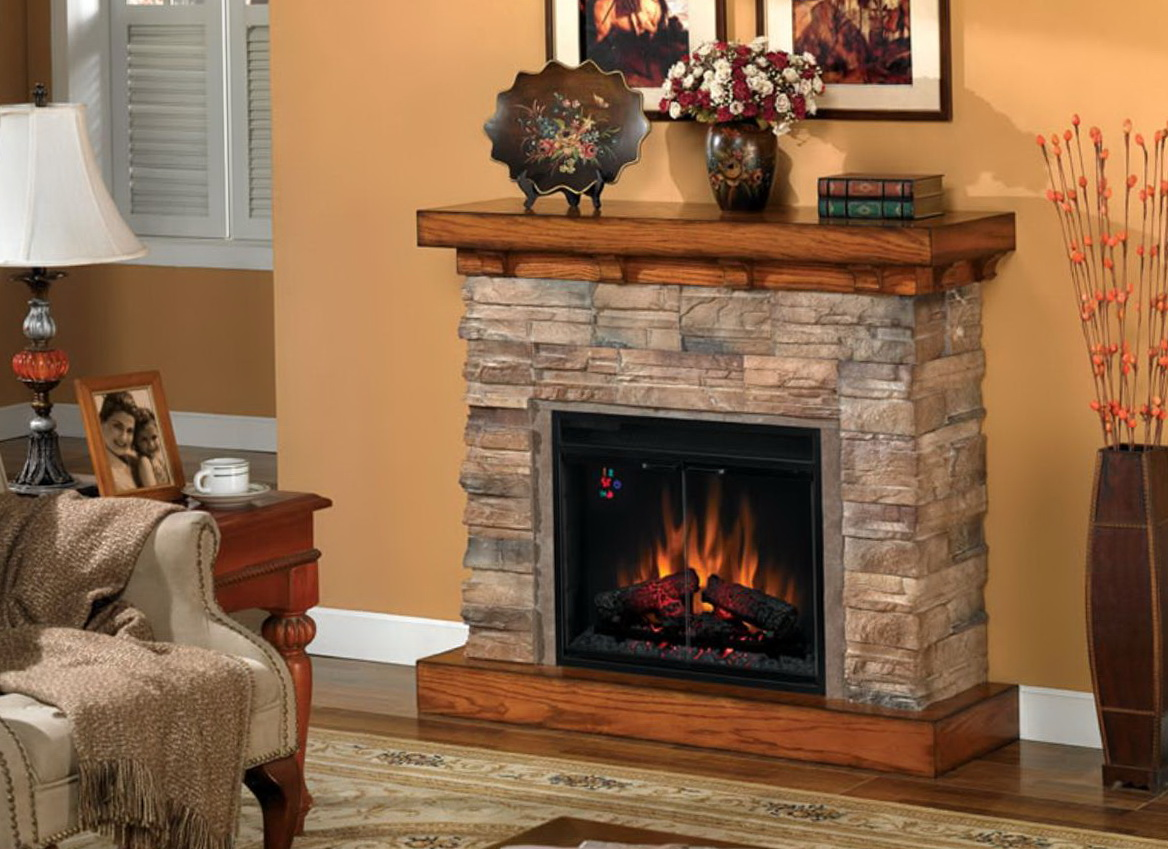 Classic Flame Flagstone Electric Fireplace Home Design Ideas