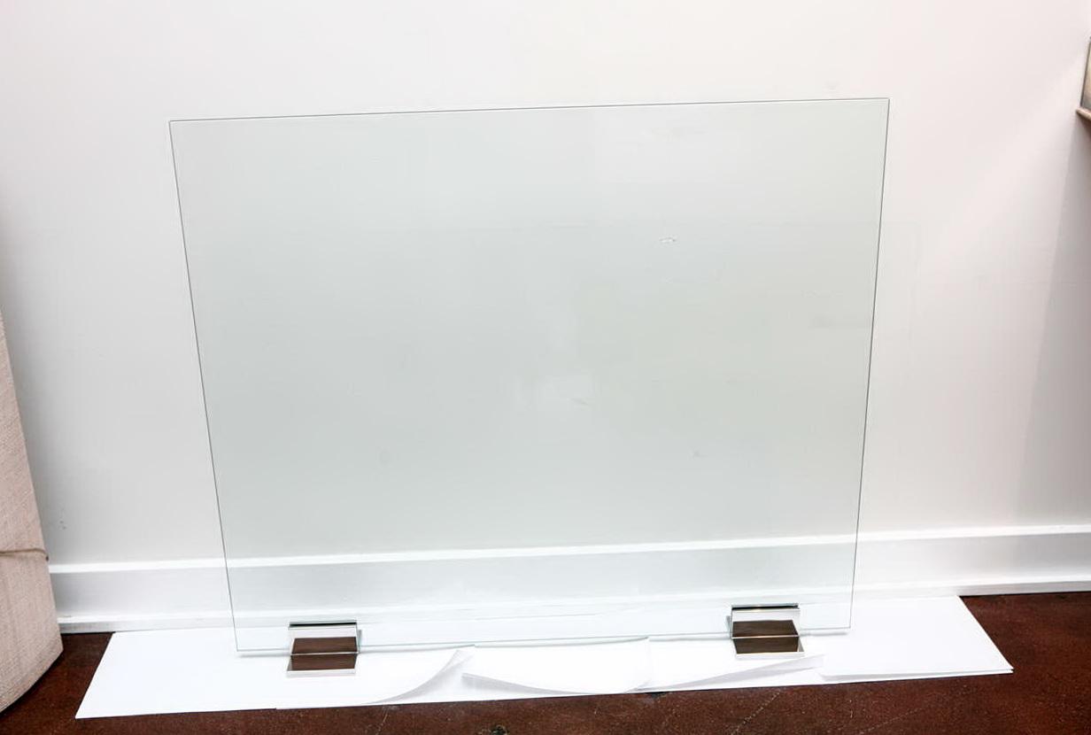 Contemporary Glass Fireplace Screens Home Design Ideas