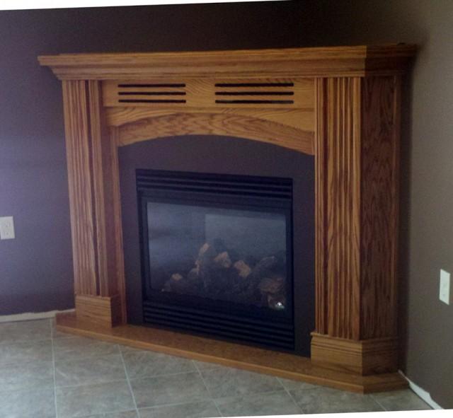 Corner Gas Log Fireplaces