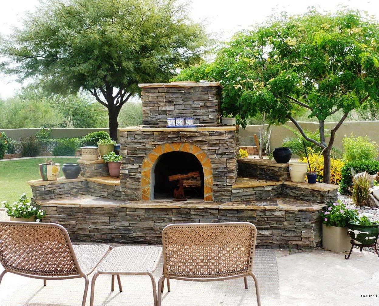 Easy Outdoor Fireplace Ideas | Home Design Ideas