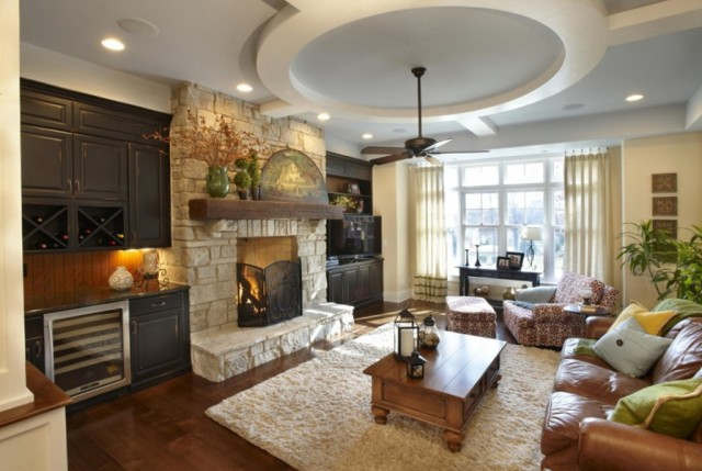 Family Room Fireplace Wall Ideas