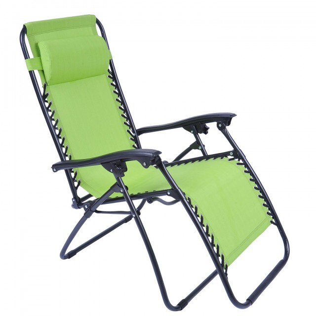 Folding Chaise Lounge Chair Patio Outdoor Pool Beach Lawn Recliner Zero Gravity