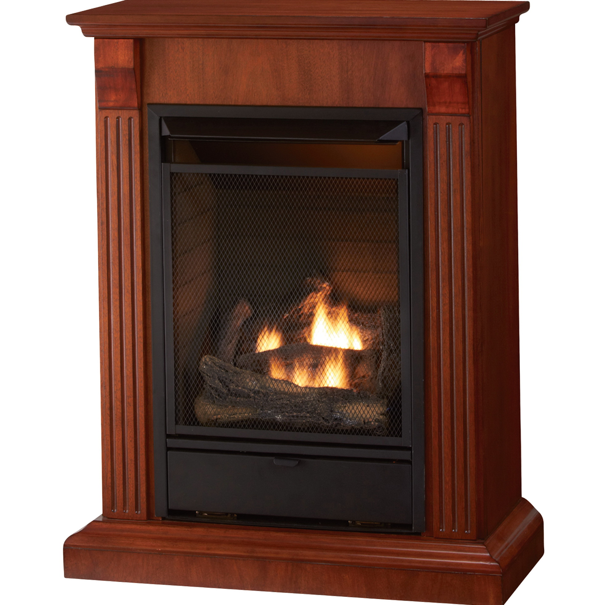 Free Standing Gas Fireplace Interior Design