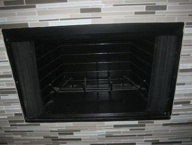 Glass Tile Fireplace Surround Pictures Home Design Ideas