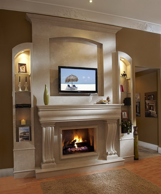 modern brick fireplace mantels | home design ideas