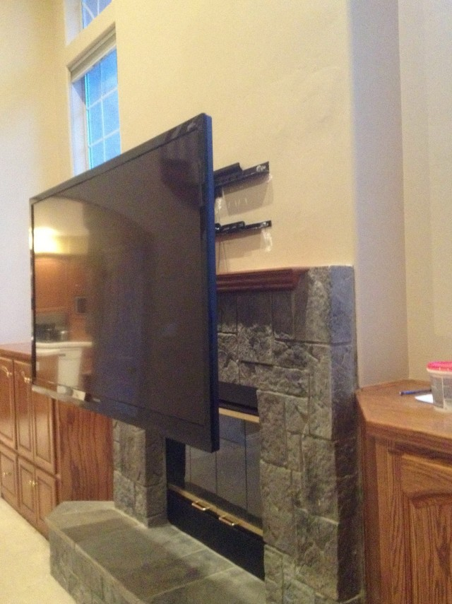 Hanging Tv Over Fireplace No Studs Home Design Ideas