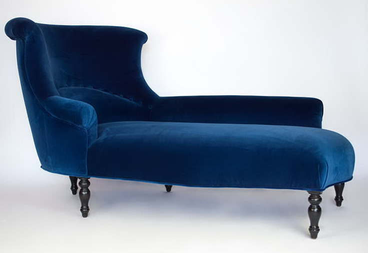 navy blue chaise lounge home design ideas