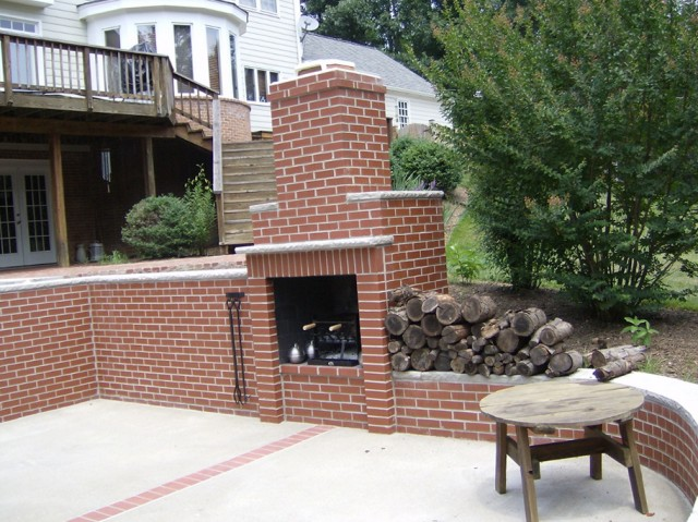 Outdoor Corner Fireplace Dimensions