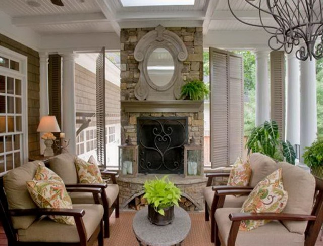 Back porch decorating ideas on a budget home design ideas for Outdoor fireplace ideas on a budget