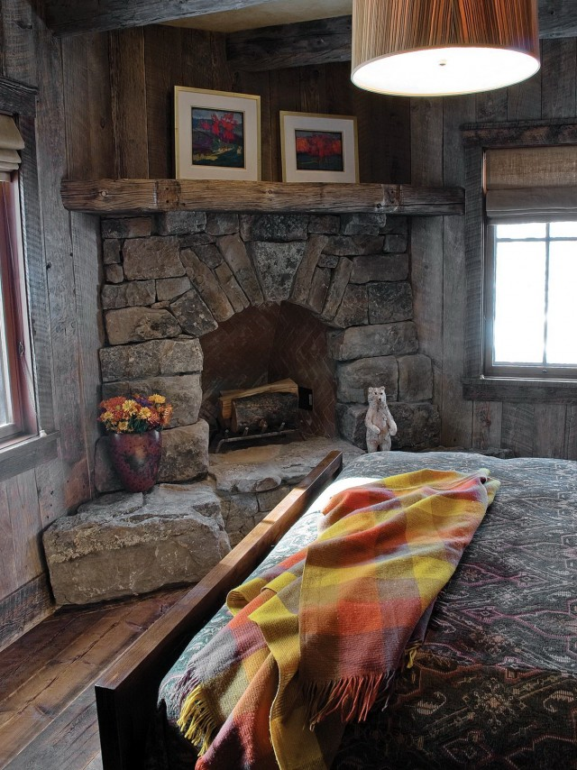 Rustic Stone Fireplace Ideas Corner Home Design