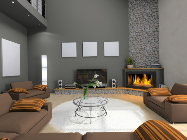 Small Living Room With Corner Fireplace Ideas