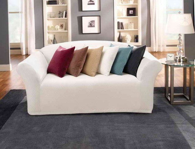 Sofa With Chaise Slipcover