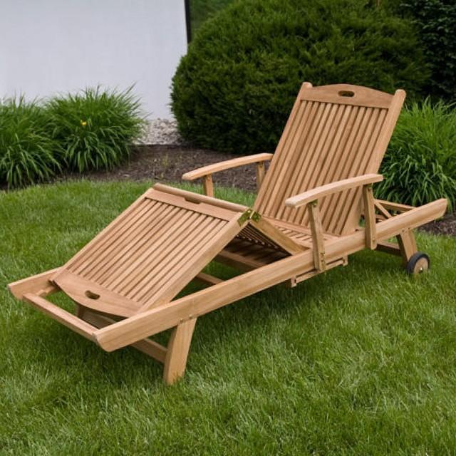 Teak Chaise Lounge Outdoor